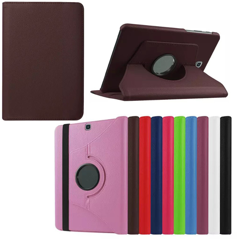 360 Degree Rotating Stand PU Leather Case Cover For Samsung Galaxy Tab S2 8 0 SM