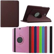 360 Grados Que Giran el Soporte de LA PU Cubierta de Cuero Para Samsung Galaxy Tab S2 8.0 SM T710 T715 T715N Tabletas y e-books Case Y4C28D