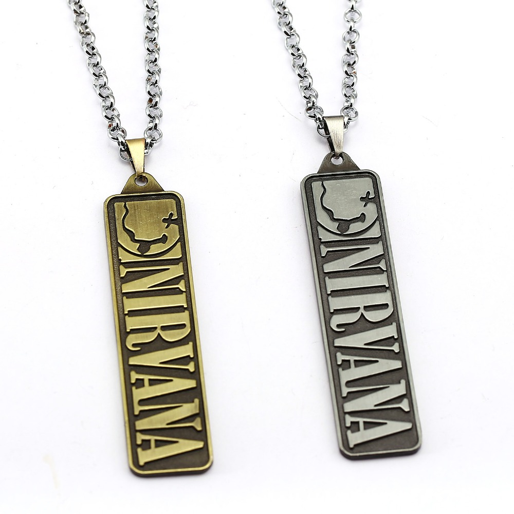 Music Band Nirvana Unplug Necklace Cool Fans Pendant Fashion link chain Necklaces Friendship Gift Jewelry Accessories