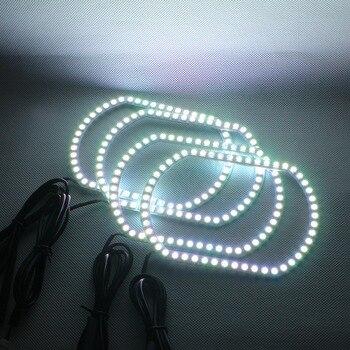 Angel Eyes RGB LED Light DRL Wireless Bluetooth Controller Headlights Angel Eyes For Chevrolet Silverado GMC Sierra 2007-2014