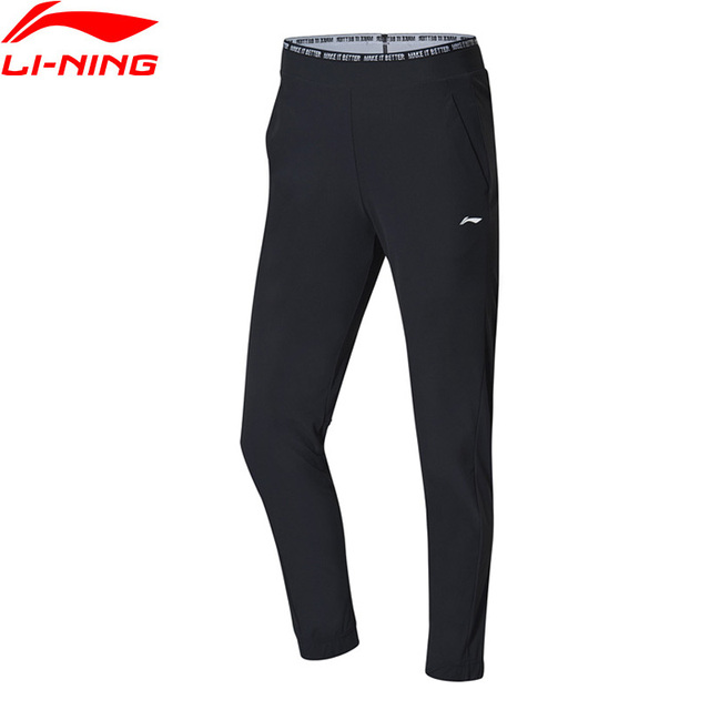 Li-Ning Women Training Series Knit Pants Regular Fit 79% Nylon 21% Spandex LiNing Comfort Sports Trousers AKYP006 WKY219