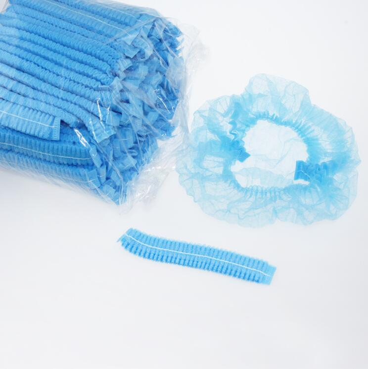 Beauty & Health 200pcs Microblading Disposable Blue Medical Hair Net Cap Non-woven Bouffant Stretch Dust Cap For Tattoo Cleaning Supplies