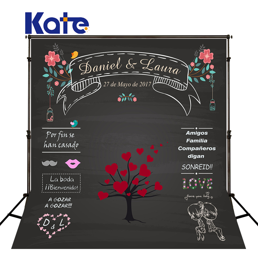 Kate Wedding Backdrops Blackboard for Photo Studio Wedding Background Photography Customise size made fotostudio photocall kate 7x5ft photography backdrops floors bookshelf books retro back to school photo background photocall for kids fond studio