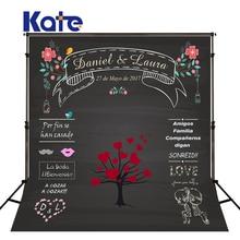 Kate Wedding Backdrops Blackboard for Photo Studio Wedding Background Photography Customise size made fotostudio photocall