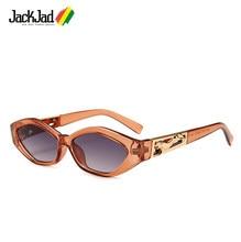 a1dea0ec83a JackJad Women Vintage Modern Golden Jumping Leopard Slim Sunglasses Retro  Diamond Shape Brand Design Sun Glasses Oculos De Sol