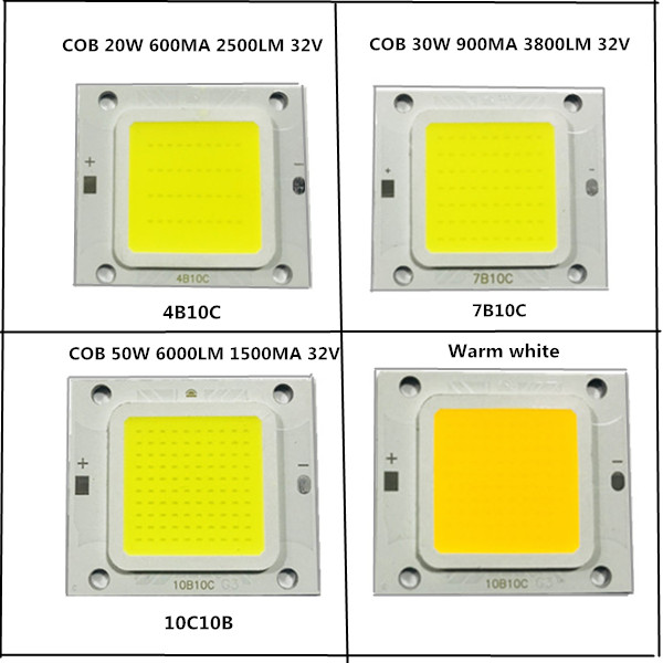 20PCS/lot COB 4640 Real 20W 30W 50W LAMP LED Light Beads Warm Cold White High Power Lamp Long Life Good Chips For Street Lights