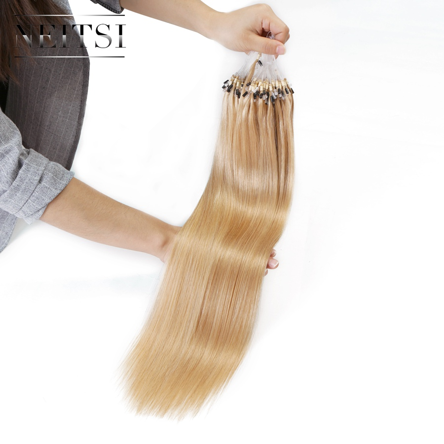 Aliexpress buy neitsi straight loop micro ring hair 100 aliexpress buy neitsi straight loop micro ring hair 100 human micro bead links machine made remy hair extension 16 20 24 1gs 50g 20 colors from pmusecretfo Choice Image