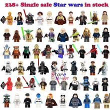 1Pcs Darth Vader Han Solo R2-D2 BB-8 Ewok action building blocks toys for children(China)
