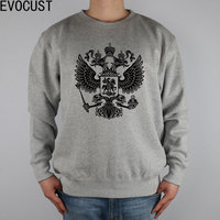 EAGLE FOR RUSSIA men Sweatshirts Thick Combed Cotton