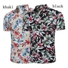 Zogaa 2019 Fashion Floral Hawaiian Shirt Men Summer Short Sleeve Dress Causal Brand Vocation Beach Shirts Camisa