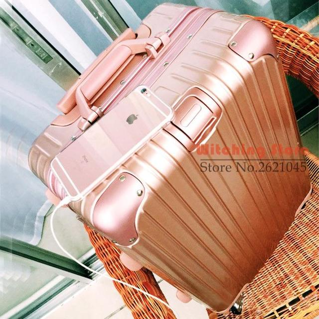 20 INCH  2022242629# High magnesium aluminum alloy frame 20 board chassis 24/26/29 suitcase checked luggage for men a