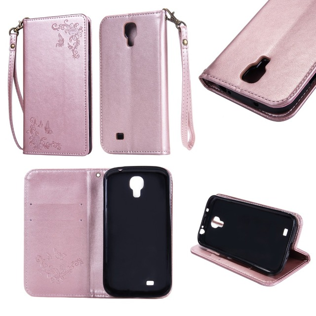 Leather Case for Samsung Galaxy S4 S 4 GalaxyS4 I9505 I9506 I9500 GT-I9500 GT-I9505 GT-I9506 Duos Flip Phone Cover GT-I9500 GTS4
