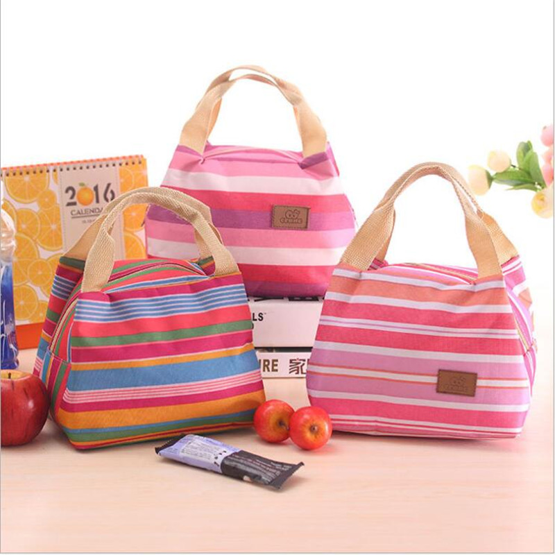 Fashion Portable Insulated Canvas lunch Bag Thermal Food Picnic Lunch Bags for Women kids Men Cooler