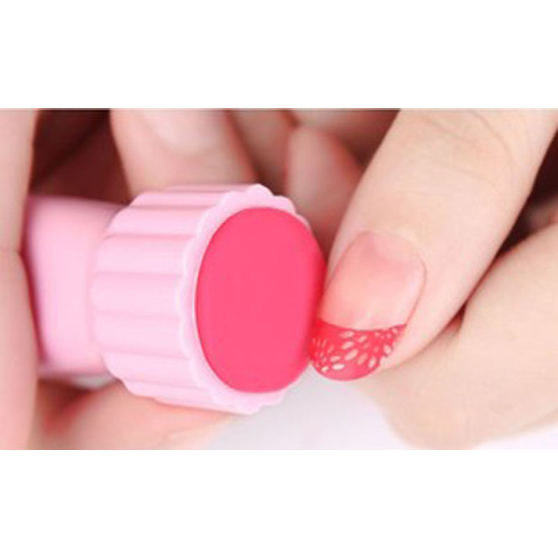 Pink Image Plate Sing Knife Nail Art Stamping Plates Stamps Polish Tool Salon Artist Tools Printing In Templates From