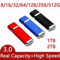 De alta velocidad USB 3,0 Flash Drive de 1TB 2TB Pen Drive GB 64GB 128GB 256GB Cle memoria USB para llavero Pendrive 3,0 de 512GB Creativo regalos