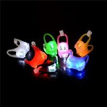 Наружная Ночная силиконовая предостережительная лампа для детской коляски, светильник, ночной выход, безопасность, оповещение, светильник светодиодный, вспышка, предостережение, лампа