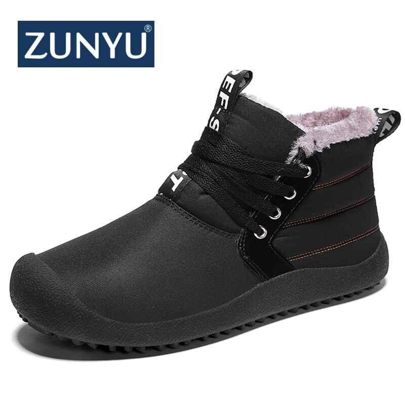 f4e2ed219967 ZUNYU Super Warm Men Winter Boots for Men Warm Waterproof Rain Boots Shoes  2018 New Men s