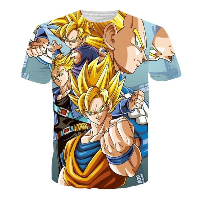 Naruto Dragon Ball One Piece Camisetas Hombre T Shirt