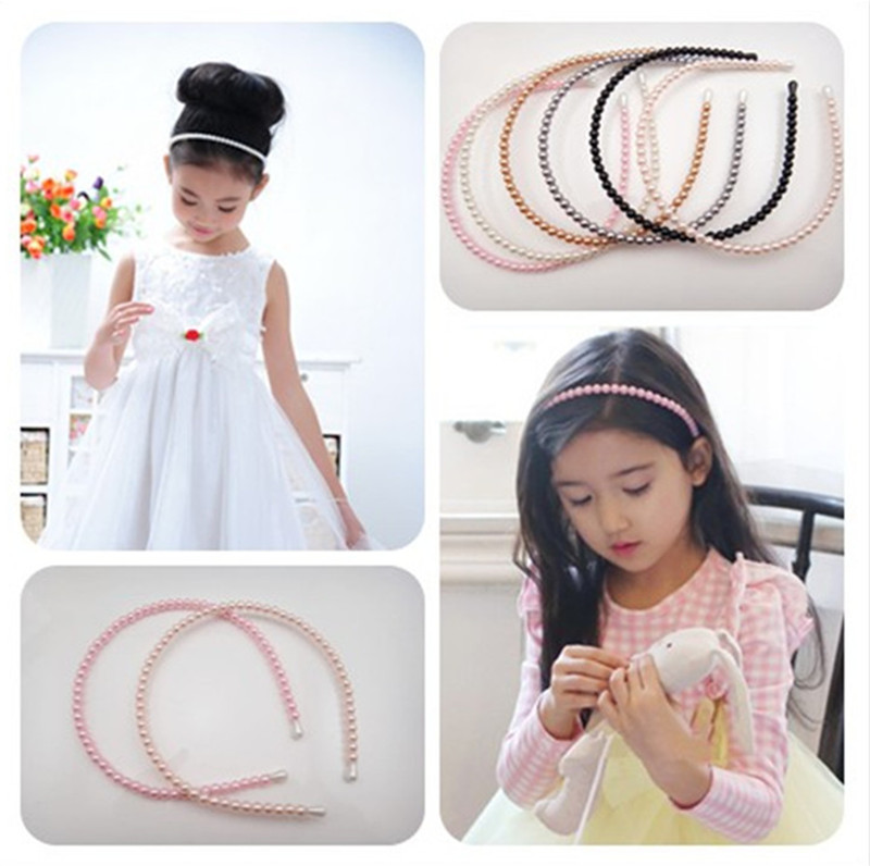 Hair Accessories For Girls Wholesale Pearl Headband Hairband Hair Bow Princess DIY Kids Hair band