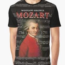1956d9129507 All Over Print T-Shirt Men Funy tshirt Wolfgang Amadeus Mozart Short Sleeve  O-