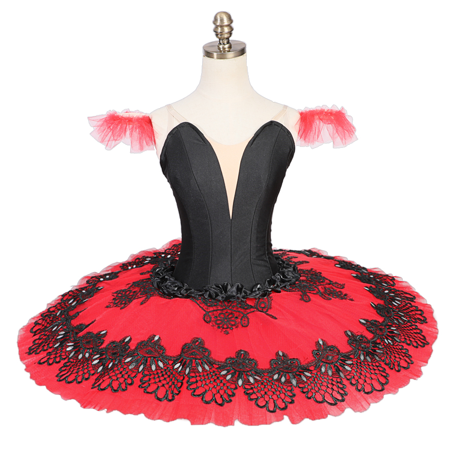 Black Red Paquita La Esmeralda Competiton Pancake TUTU Adult Women Girls Classical Black White Professional Ballet Platter Tutu