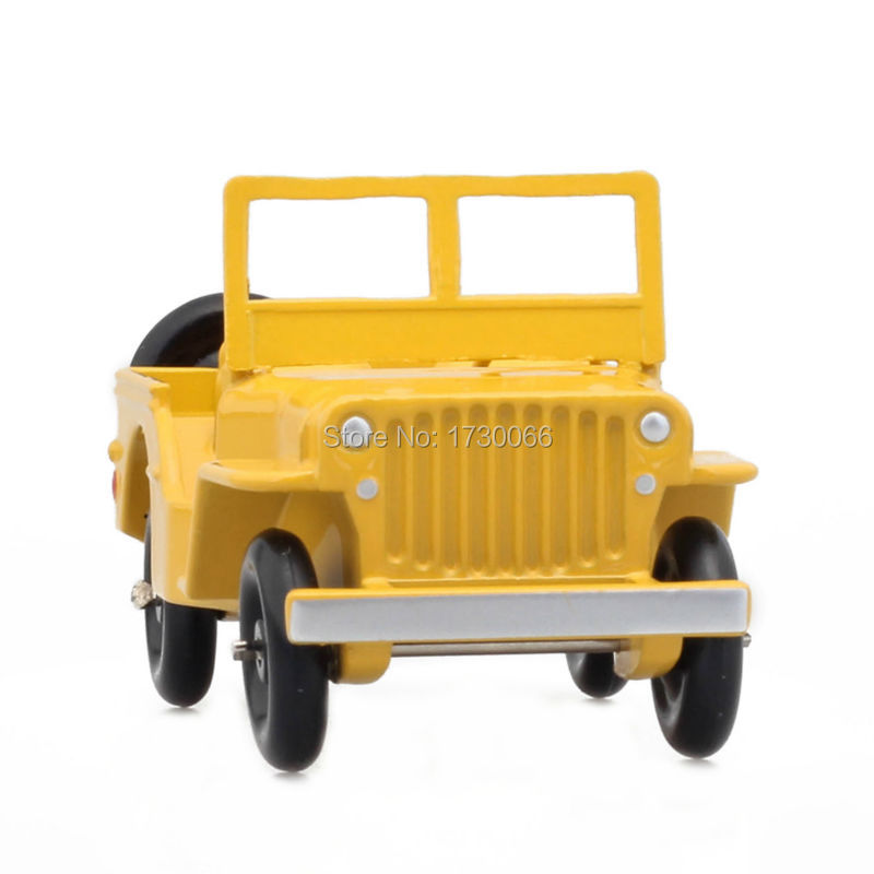 "Купить с кэшбэком DINKY Toys Atlas Model Car 1:43 24M JEEP VERSION ""CIVILE"" Yellow Metal Alloy Diecast Car model & Toys Model for Collection"