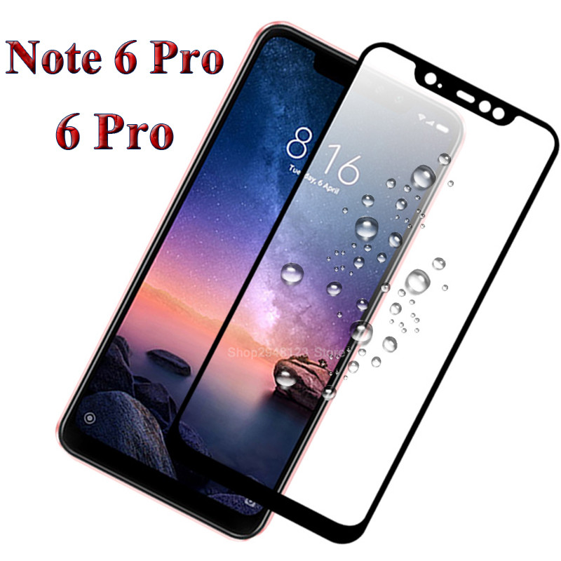 For Xiaomi Redmi Note 6 Pro Protective Glass Cover Film For Xiaomi Redmi 6 Pro Tempered Glass Screen Protector Redmi Note 6 Pro
