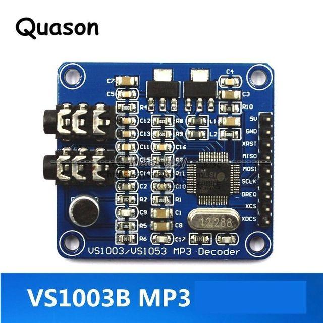 US $6 49 |VS1003 MP3 decoding Module MP3 MP3+V WMA WAV MIDI Microphone  Development Board module-in Replacement Parts & Accessories from Consumer