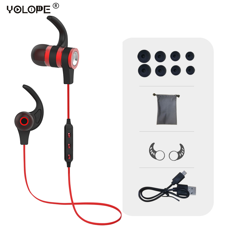 Yolope Hifi Mini Sport Earbuds In-ear Earpieces Headset Auriculares Wireless Headphone Bluetooth Earphones For Phone Kulakl K радиоприемник 25 hifi 25w