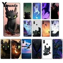Yinuoda How To Train Your Dragon desdentado Preto Tampa Do Telefone para Xiao mi mi mi mi x2 6 x2S Note3 8 8 lite Red mi 5 note5 Note4 4X(China)