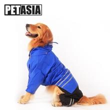 PETASIA Medium Big Dog Raincoat For Large Dog Rain Coat Jacket Waterproof For Pet Dog Clothing Husky Labrador Outdoor Clothes