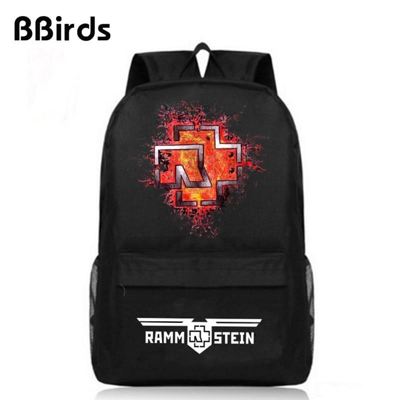 BBirds Rammstein Backpack Men Women Oxford Fashion School bag rammstein mutter