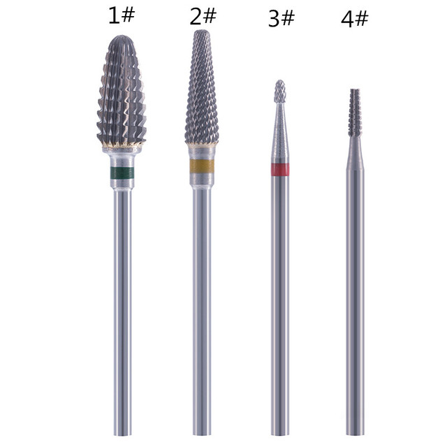 1 pcs Tungsten Carbide Milling Cutter Nail Drill Bit Nail Art Tool For Electric Manicure Drill Machine Accessory Remove gel 1