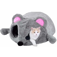 Cute Mice Shape Cat Bed House Small Pet Bed Homes for Hamsters Chinchillas Rat Hedgehog Ferret Windproof Puppy Cat Bed Cave