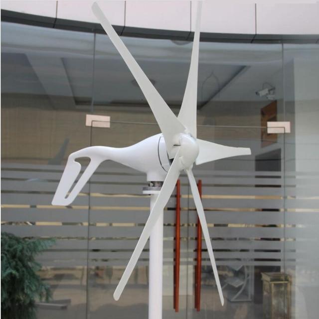 3 blades 5 blades 100w 200w 300w 400W 24V/12v Wind Turbine Generator цена