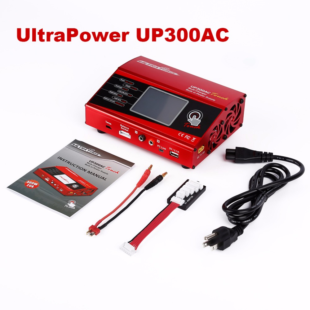 RC Lipo Battery Charger 300W 20A AC DC with Touch Screen Charger Ultra Power UP300AC Banlance