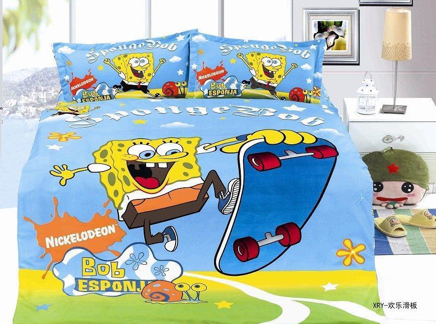 Spongebob printed bedding sets single twin size bedspread ... : spongebob quilt cover - Adamdwight.com