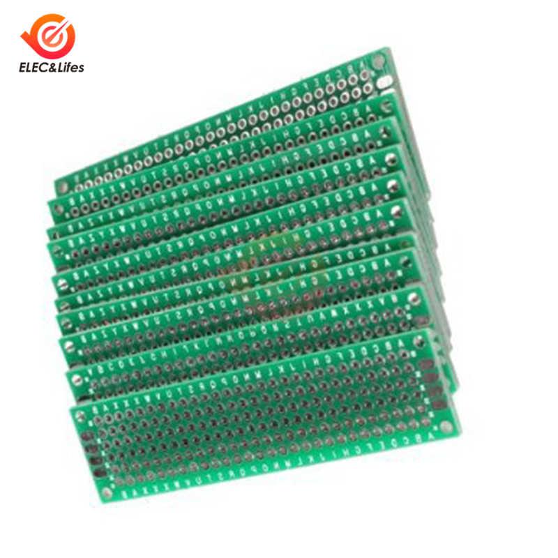 5 pièces 2*8 CM Universel Bande platine de prototypage Pour Arduino À Souder Électronique bricolage double face Étamé Prototypage de CARTE PCB