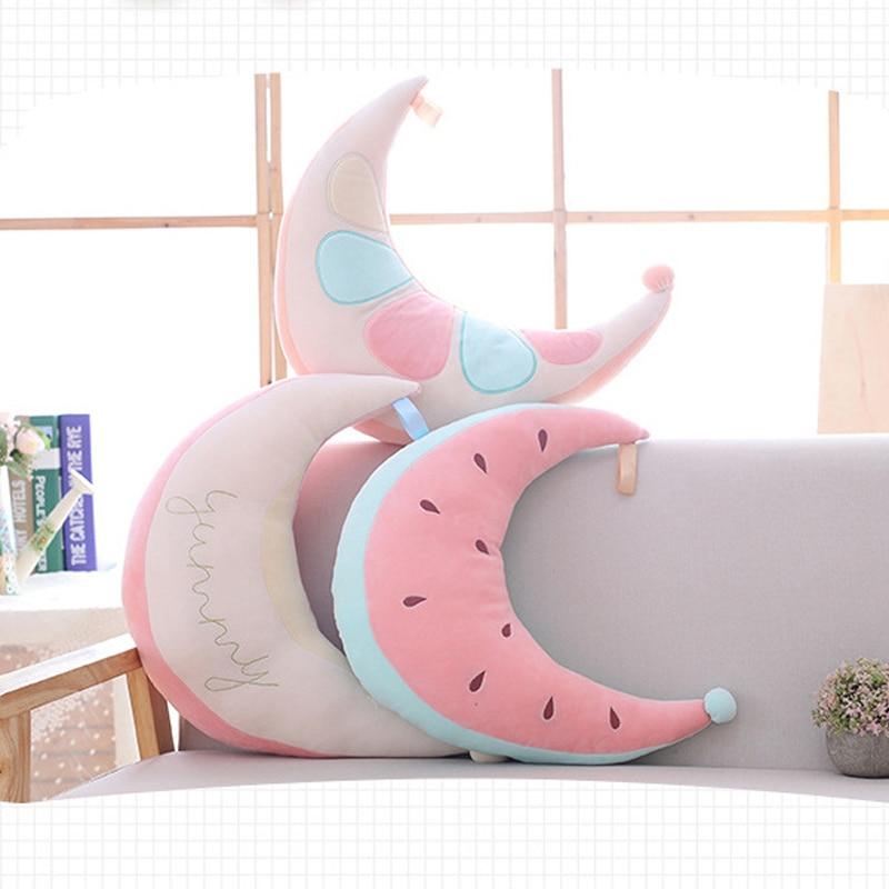 1 Stks Maan Watermeloen Stijl Roze Leuke Fruit Slapen Pluche Doll Toys Soft Mooie Pluche Kussen Speelgoed Pop Kerstcadeau Om Tot De Eerste Te Behoren Onder Vergelijkbare Producten