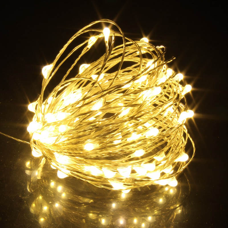 1M/2M/5M/10M Copper Silver Wire LED String lights Holiday lighting For Fairy Christmas Tree Garland Wedding Party Decoration