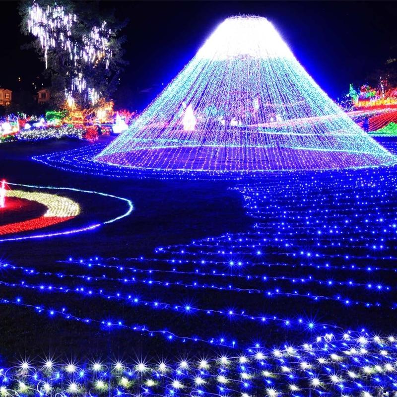 BDBQBL 8 couleurs 100 M LED guirlandes lumineuses 8 Modes lumières de noël pour les fêtes de mariage lumières de vacances 100 LED s EU/US Plug fée lumière
