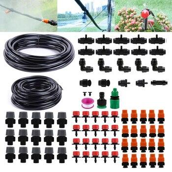 25m 811 Mangueira Gotejamento Irrigação Automática Micro Sistema De Irrigação Do Jardim Spray Auto Kits De Rega Com Dripper Ajustável
