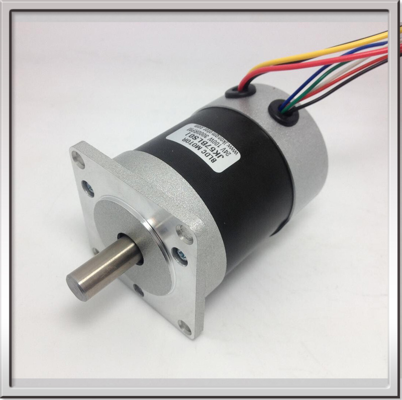 ФОТО 57BLDCS Brushless DC Motor 36V 4000rpm 46W 6.8A Circle the fuselage Hall feedback 57BLS01 3 phase Brushless Commutator DC Motor