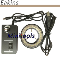 Adjustable 6500K 60LED Ring Light illuminator Lamp For Industry Stereo Microscope Digital Camera Magnifier 110V-240V Adapter