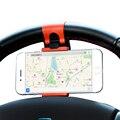 Volante Do Carro Universal de Montagem de Carro Titular Do Telefone Móvel Celular Suporte Para iphone 5 6 7 plus ipod samsung mp4 gps xiaomi htc sony