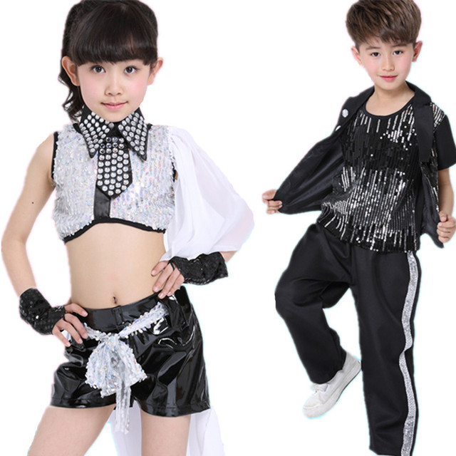 20 unids lote envío gratis lentejuela niños hip hop ropa Niñas Niños etapa  Salón hiphop f62f3ba9999