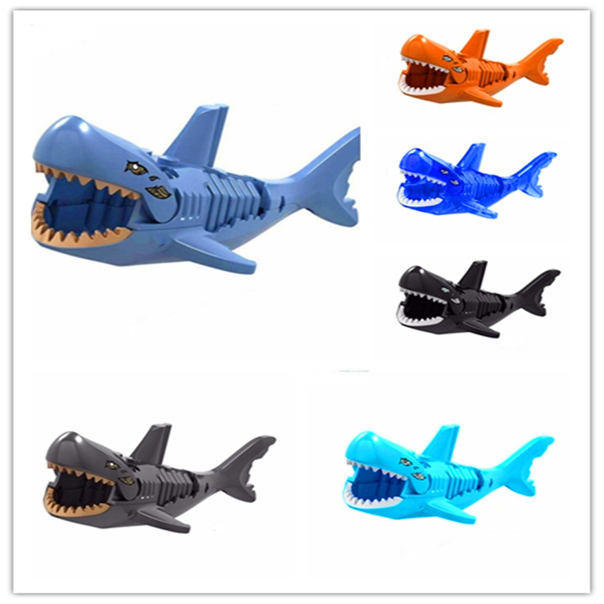 Genuine Ghost Zombie Shark Super Heroes Caribbean Pirate Model Building Block Toys Gift For Children Compatible Legoe