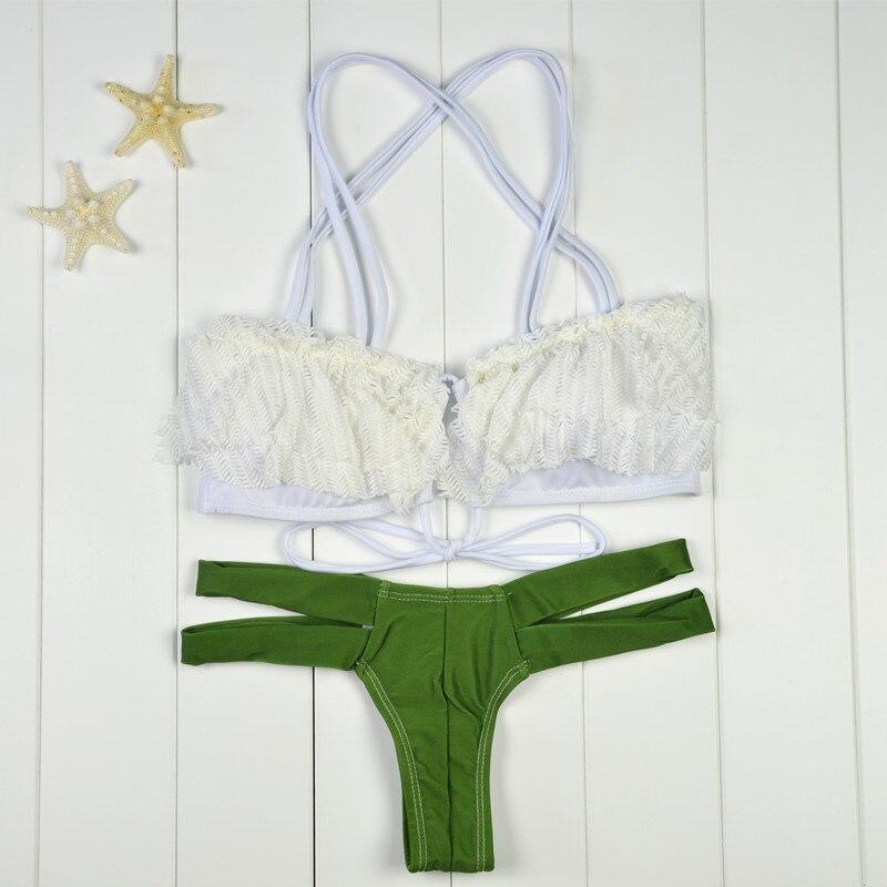 Bañadores bikini 2016 Nuevo diseño verde sexy bikini set mujeres ...