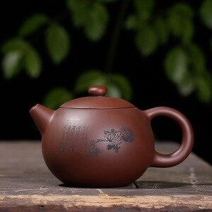 Image 4 - Фиолетовая глина Слива LAN бамбук Хризантема Shih чайник ручной работы горшок Исин Чайник чистая ручная работа