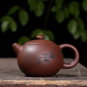 Image 4 - Purple clay plum LAN bamboo Chrysanthemum Shih Kettle handmade pot Yixing teapot pure hand handmade